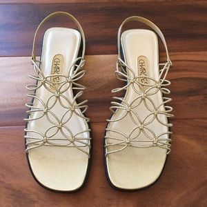 Charlie's Gold Knotted Sandals